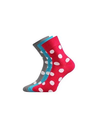 Ponožky Boma IVANA Mix 52 - balení 3 páry v barevném mixu