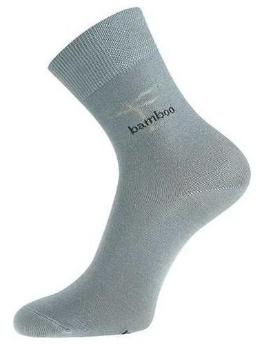KRISTIÁN bambusové ponožky, světle šedá