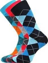 Pánské veselé barevné ponožky Lonka WEAREL 017 - balení 3 páry
