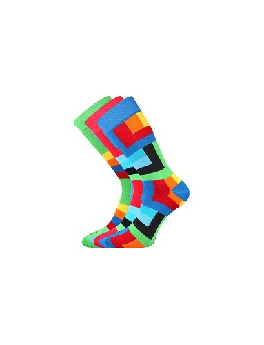 Pánské veselé barevné ponožky Lonka WEAREL 013 - balení 3 páry