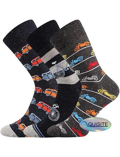 Pánské veselé barevné ponožky Lonka HARRY, mix A