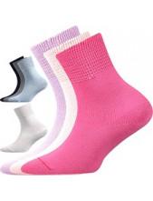 ROMSEK dětské 100% bavlněné ponožky Boma - balení 3 páry barevný mix