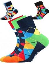 Dětské ponožky Lonka WOODIK - balení 3 páry v barevném mixu