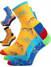 Dámské, pánské ponožky Lonka WEELS, mix A, žlutá