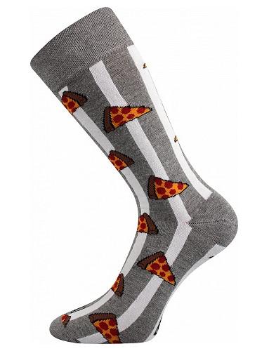 Pánské ponožky Lonka DEFOOD, pizza