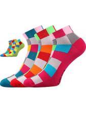 BECUBE ponožky Lonka - balení 3 páry v barevném mixu