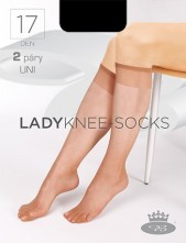 Dámské podkolenky Boma LADYknee-socks 17DEN - balení 2 páry