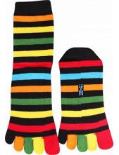 Prstové ponožky Prstan-a 04 pruhované