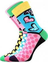 Ponožky Boma IVANA 55 - balení 3 páry v barevném mixu