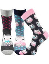 Ponožky Boma Xantipa 56 - balení 3 páry v barevném mixu