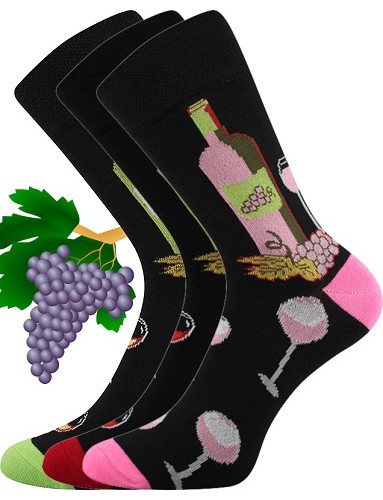 Sportovní ponožky VoXX VínoXX, vzor víno