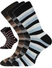 Ponožky Boma PRUHANA 05 - balení 3 páry v různých barvách