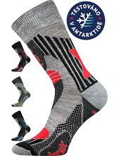 VISION sportovní ponožky VoXX s Merino vlnou Černá - magenta