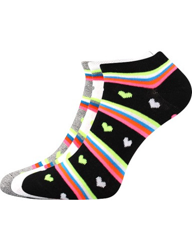Dámské ponožky Boma Piki 60 - balení 3 různé páry