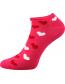 Dámské ponožky Boma Piki 61, vzor srdíčka, barva magenta