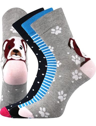 Ponožky Boma Xantipa 61 - balení 3 páry v barevném mixu