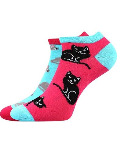 Dámské ponožky Boma DUO 01, kočky