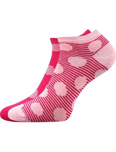 Dámské ponožky Boma DUO 02, magenta