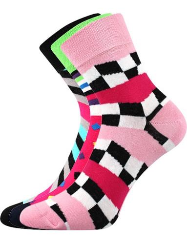 Ponožky Boma IVANA 56 - balení 3 páry v barevném mixu