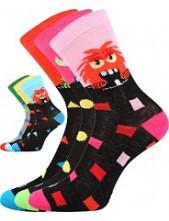 Dětské ponožky Lonka UFONEK - balení 3 páry v barevném mixu