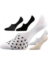 VERTI ponožky ťapky VoXX, bílá s černými puntíky