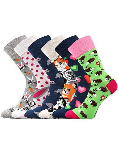 Dámské ponožky Lonka DOBLE, mix G