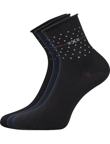 Dámské ponožky Lonka FLOWI - balení 3 páry v barevném mixu