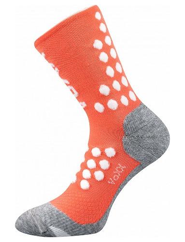 Kompresní ponožky VoXX FINISH, lososová