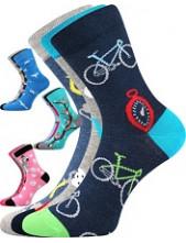 Dětské ponožky Boma 057-21-43 10/X - balení 3 páry v barevném mixu