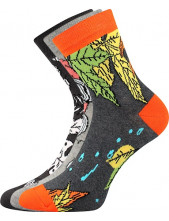 Ponožky Boma IVANA 58 - balení 3 páry v barevném mixu
