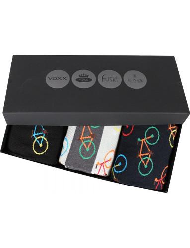 Pánské ponožky Lonka WEBOX 012 - balení 3 různé páry v krabičce