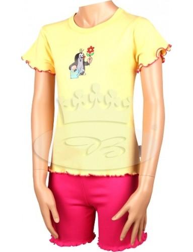 Dětské pyžamo Boma KR 012 Krtek krátké žlutá