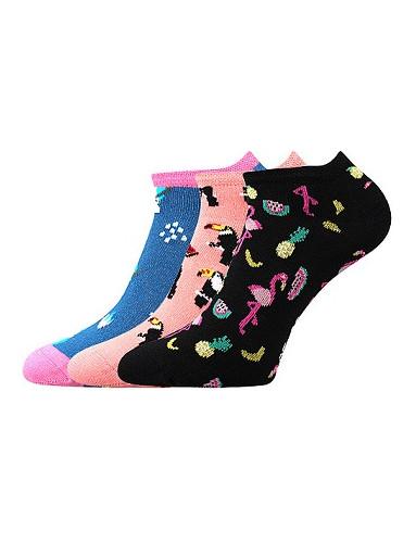 Dámské ponožky Boma Piki 63 - balení 3 různé páry