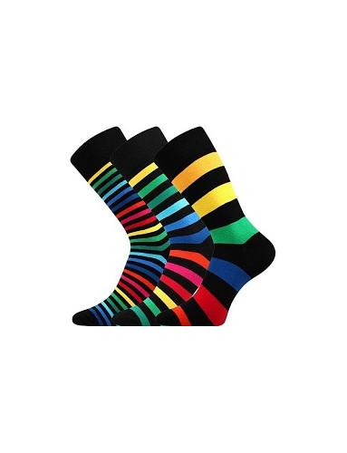 Pánské barevné ponožky Lonka DELINE II - balení 3 páry