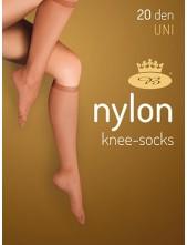Dámské podkolenky NYLONknee-socks 20DEN - balení 5 párů
