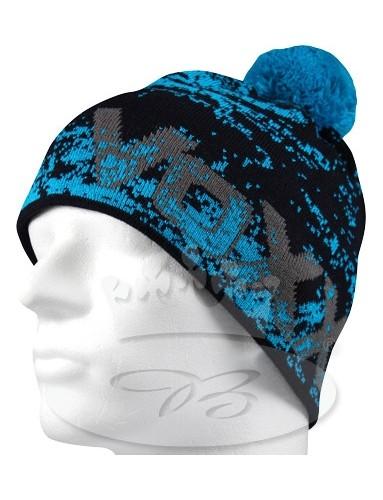Pletená čepice VoXX REGALE, modrá