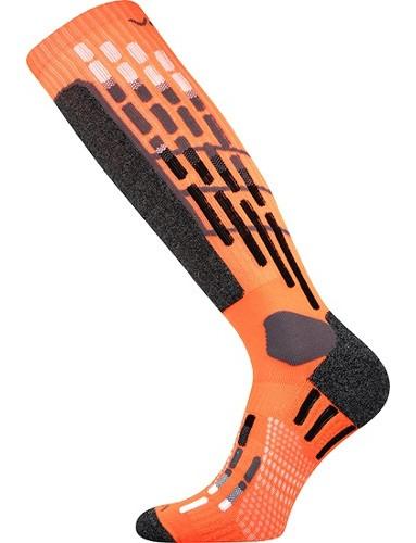 VxPRES kompresní podkolenky VoXX, neon oranžová