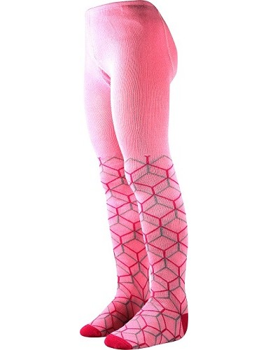 Dívčí punčocháče vel. 74-104 Boma MAX, vzor 32, růžová a síť