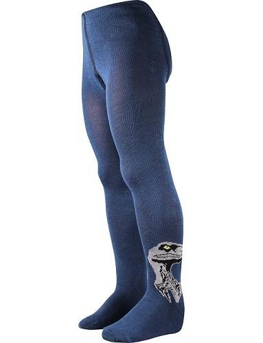 Chlapecké punčocháče Boma MAX, vzor 33, tmavě modrá dinosaurem