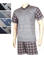 Pánské pyžamo Kája krátké rukávy a šortky