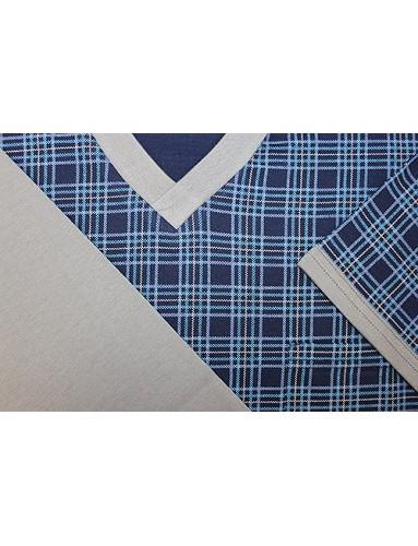 Pánské pyžamo Kája, vzorované tričko a jednobarevné šortky Vzor 58