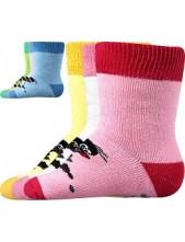 KRTEČEK FROTÉ kojenecké ponožky Boma - balení 3 páry