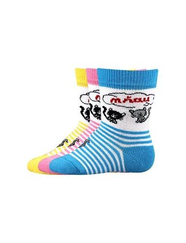 MIA kojenecké ponožky Boma - balení 3 páry