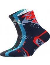 ALKIK dětské sportovní ponožky VoXX - balení 3 páryy, mix A kluk