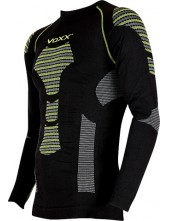 Termoprádlo - VoXX AP 02 Tričko dlouhý rukáv černo zelená
