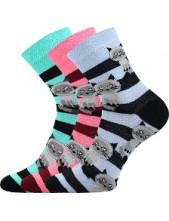 Ponožky Boma Xantipa Mix 47, kočky na růžové