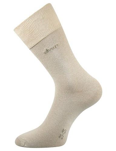 DESILVE společenské ponožky Lonka, béžová