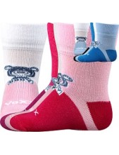 SEBÍK kojenecké bambusové ponožky VoXX - balení 3 páry