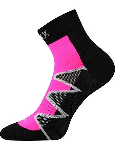 Ponožky VoXX MONSA, černo/růžová