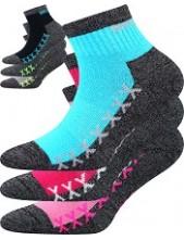 VECTORIK dětské sportovní ponožky VoXX - balení 3 páry v barevném mixu